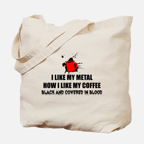 Metal and Coffee Tote Bag