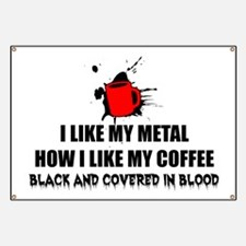 Metal and Coffee Banner