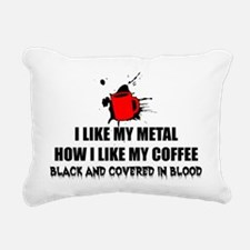 Metal and Coffee Rectangular Canvas Pillow