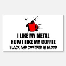 Metal and Coffee Decal