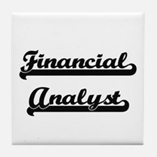 Financial Analyst Artistic Job Design Tile Coaster