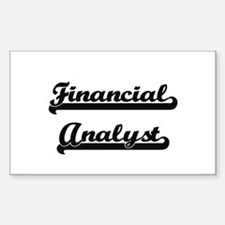 Financial Analyst Artistic Job Design Decal