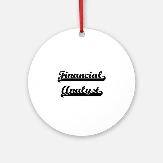 Financial Analyst Artistic Job De Ornament (Round)