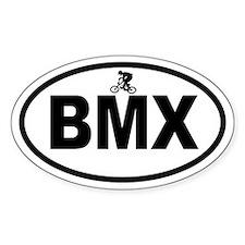 BMX Rider Oval Decal