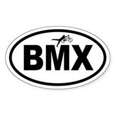 BMX Gnarly Trick Oval Decal