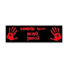 Hands up don't shoot. Car Magnet 10 x 3