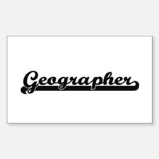 Geographer Artistic Job Design Decal