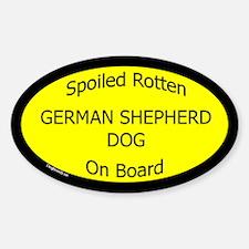 Spoiled German Shepherd Dog Oval Decal