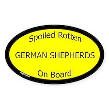 Spoiled German Shepherds On Board Oval Decal