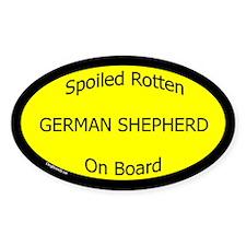 Spoiled German Shepherd On Board Oval Decal