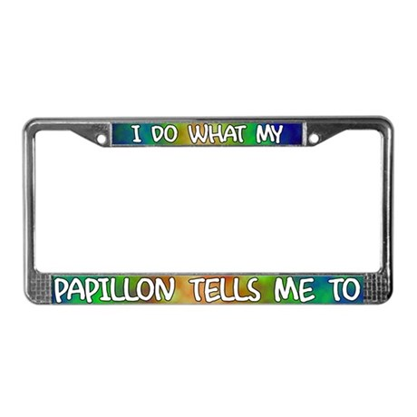Do what Papillon License Plate Frame