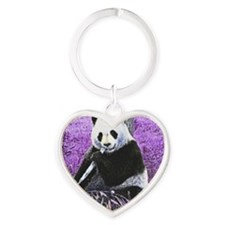 Cute Panda Heart Keychain