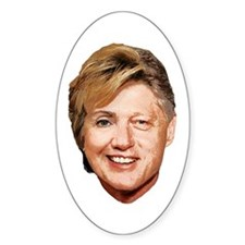 Billary Clinton Oval Decal
