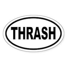 Thrash Oval Decal