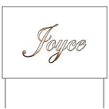 Gold Joyce Yard Sign