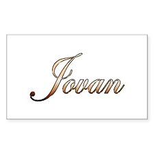 Gold Jovan Decal