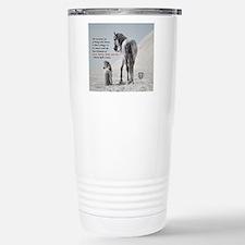 Cute Grey stallion Travel Mug