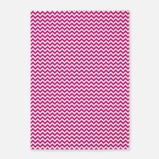 Hot Pink Chevron 5'x7'Area Rug