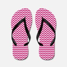 Hot Pink Chevron Flip Flops