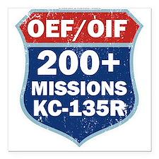 "200 Msn KC-135 Square Car Magnet 3"" x 3"""