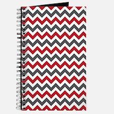 Red Gray Chevron Journal