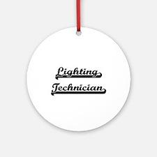 Lighting Technician Artistic Job Ornament (Round)