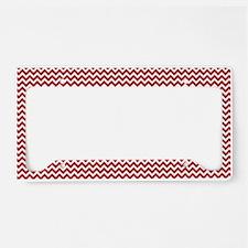 Red Chevron License Plate Holder