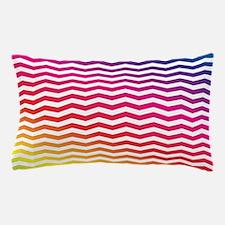 Rainbow Spectrum Zig Zag Pillow Case