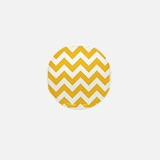 Yellow Chevron Mini Button