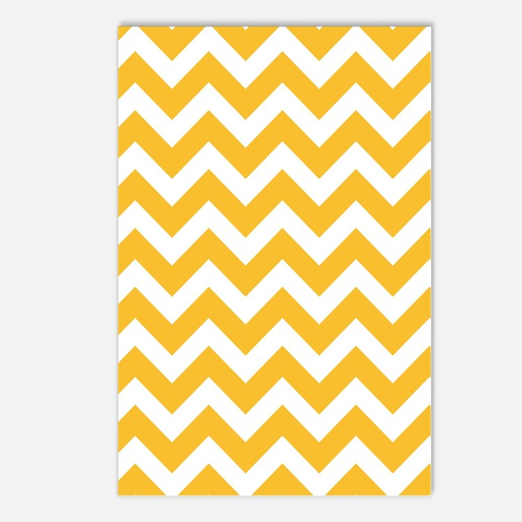Yellow Chevron Postcards (Package of 8)