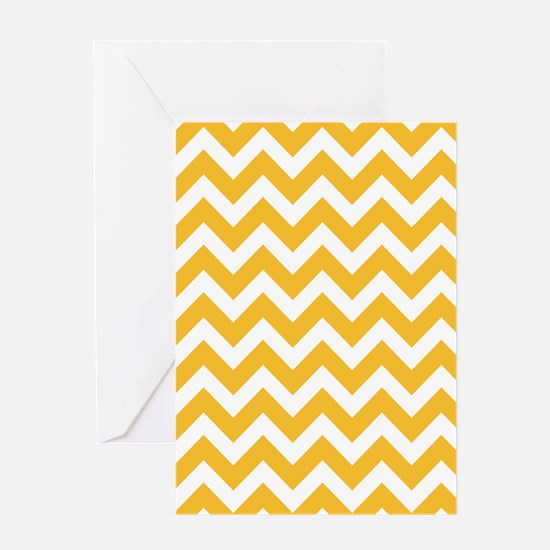 Yellow Chevron Greeting Card