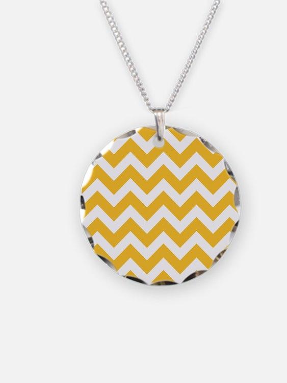 Yellow Chevron Necklace