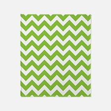 Lime Green Chevron Throw Blanket