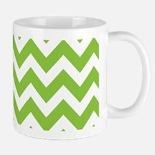 Lime Green Chevron Mug
