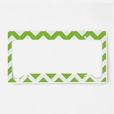 Lime Green Chevron License Plate Holder