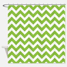 Lime Green Chevron Shower Curtain