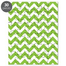 Lime Green Chevron Puzzle