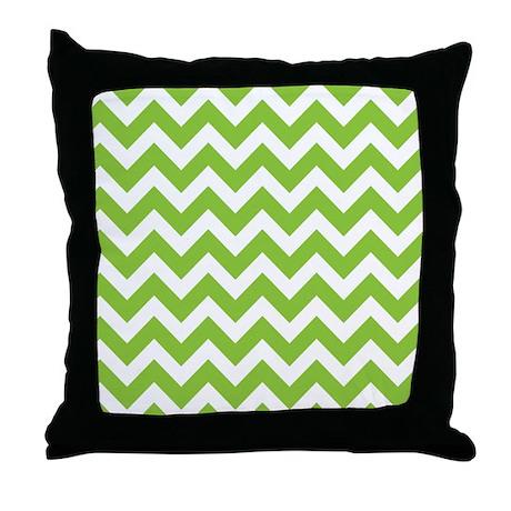 Lime Green Chevron Throw Pillow : Lime Green Chevron Throw Pillow by 1512blvd
