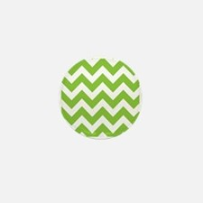 Lime Green Chevron Mini Button