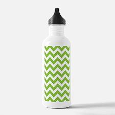 Lime Green Chevron Water Bottle