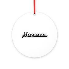 Magician Artistic Job Design Ornament (Round)