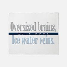 Oversized Brains Throw Blanket