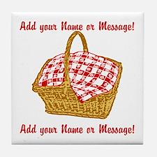 Personalized Picnic Basket Tile Coaster