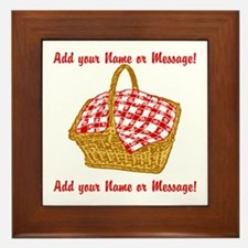 Personalized Picnic Basket Framed Tile