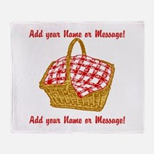 Personalized Picnic Basket Throw Blanket