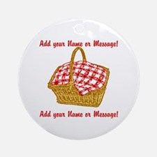 Personalized Picnic Basket Ornament (Round)