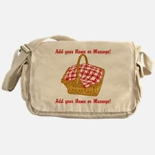 PERSONALIZED Picnic Basket Graphic Messenger Bag