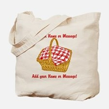 PERSONALIZED Picnic Basket Graphic Tote Bag