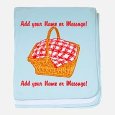 PERSONALIZED Picnic Basket Graphic baby blanket