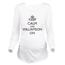 Keep Calm and Willia Long Sleeve Maternity T-Shirt